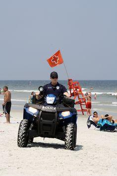 Police on beach patrol. Jacksonville Beach, September 2, Us Beaches, Amazing Photography, Police, Monster Trucks, Florida, American, People