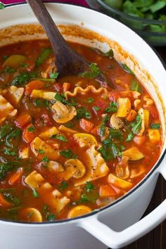Vegetable Lasagna Soup | Cooking Classy