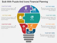 Financial Planning Bulb PPT Slide