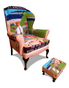 Awesome St Andrews Golf Upholstery On Lambert Stamp S Chair Room