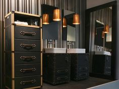 Designer rooms for Dad: masculine-themed bath>> http://www.hgtv.com/holidays-and-entertaining/designer-looks-dad-will-love/pictures/page-4.html?soc=pinterest