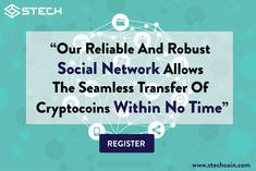 STECH reliable and robust social network allows the seamless transfer of crypto coins within no time. Register soon and for more visit us on www.stechcoin.com @StechCoin #cryptocurrency #digitalcash #virtualcurrency #bitcoin #invest #forexnews #trading
