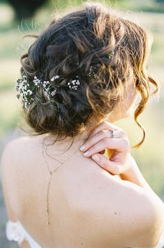 deconstructed french braided bridal updo