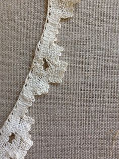 Handmade reticella lace edging 1900-1910 by GloriaLombardDesigns