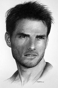 Tom Cruise by pbradyart, via Flickr