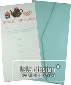 Teapot bridal shower invitation