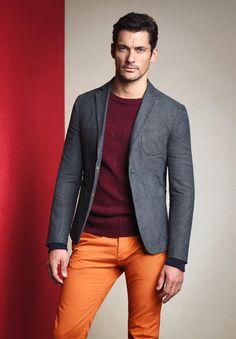 David Gandy—PKZ Fall/Winter 2012. Dig the orange jeans.