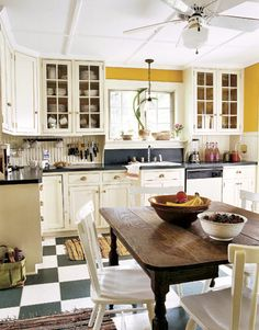 yellow and blue kitchen??!!!