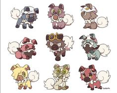 Characters as rockruff! adorable!