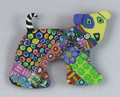 Patchwork Dog Pin Kim Korringa!