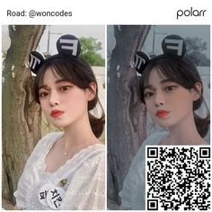 """⚘ : BABI FILTER ღ : Just like this post and comment """"bbfltr"""" if you're going to save the filter qr code."""