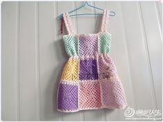 儿童钩针吊带裙
