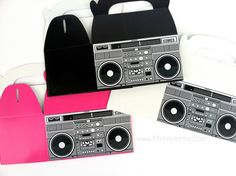 Boom Box Favor Boxes by TiTisTuTus on Etsy