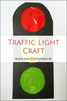 Fun traffic light craft for kids which they can actually light up!
