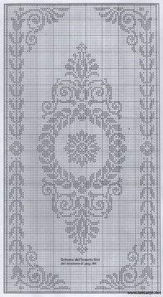 Scheme crochet no. Filet Crochet Charts, Crochet Cross, Crochet Diagram, Knitting Charts, Thread Crochet, Crochet Motif, Crochet Doilies, Knitting Patterns, Crochet Patterns