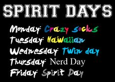 Homecoming Theme Day Ideas | to week 14 and we choose now to we new theme got theme