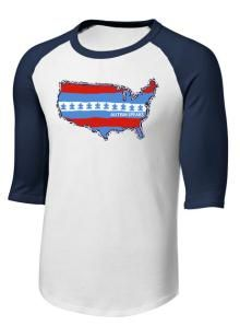 Raglan 3/4 Sleeve 4th of July with USA logo from Autism Speaks