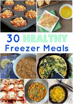 30 Healthy Freezer Meals - great round up by @rmnutrition