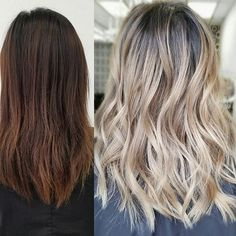 Before/After @fanola_usa #rootyombre#balayageombre#freehand#nofilter#hair#awesome#beautiful#stunning#ash#hairporn#instahair#btc#fanola#modernsalon#schwarzkoptusa#silverhair#behindthechair#behindthechair#LA#ig #colorspecialist#longhairdontcare#sammiwang#lovemyclient#girl#painting#hairporn#LA#yelp#olaplex#transformationfriday