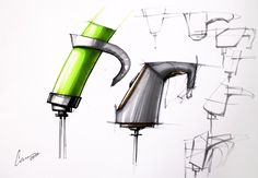 Hand mixer sketches and doodles