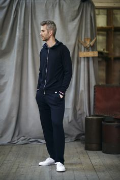 Style 'Hickey' (hooded jacket) worn with 'Freeman' (pant)
