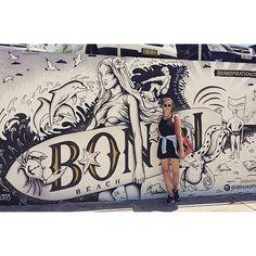 Bondi beach #bondi #bondibeach #bondibeachsydney #bondibeachgraffitiwall #sydney #australia #travel #traveling #posing #peace #fanphoto #regram from @madameflagada Art by @luhu333 by bondibeachgraffitiwall http://ift.tt/1KBxVYg