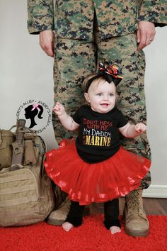 Don't mess with me My Daddy is a Marine Girls by AverysAlley1