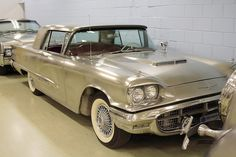 A rare 1960 stainless steel Ford Thunderbird. 1 of 2 that Ford had made completely out of stainless steel with Allgendy. The original body molds were destroyed after production was over do to this higher steel's strength. Even the chrome-like bumpers and small chrome trim pieces are a special polished stainless steel....