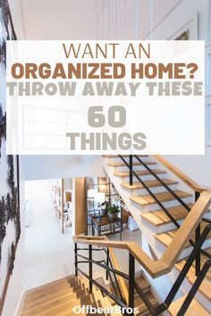 If you want an organized home, then you must throw away these 60 things that just clutter your home and take unnecessary space. Check out the things to throw away today to get organized home and make home organization easy. Declutter Home, Declutter Your Life, Organizing Your Home, Decluttering, Clutter Organization, Household Organization, Home Organization Hacks, Home Hacks, Interior Design Kitchen