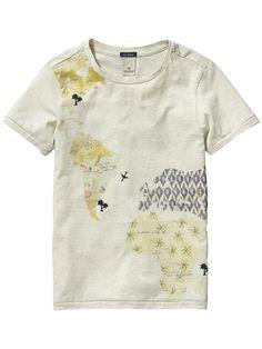 Vakantie-T-shirt van The Traveler |T-shirt s/s|Jongenskleding bij Scotch & Soda