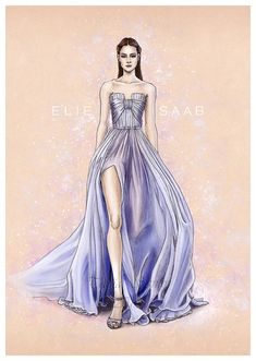 OMG i was soooooooooooooo many time without comming here and upload my illustrations :S I will not post all but i will choose some. Fashion illustration with a beautiful Elie Saab Spring summer 201...
