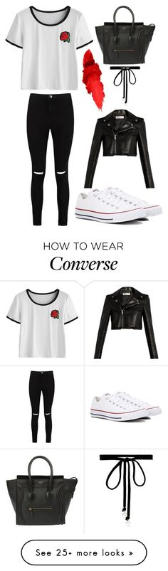 """CUTE"" by mimimt on Polyvore featuring Boohoo, Converse, Maybelline, Joomi Lim and Yves Saint Laurent"