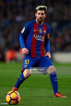 Lionel Messi of FC Barcelona in action during the La Liga match between FC Barcelona and Real Madrid CF at Camp Nou stadium on December 03, 2016 in Barcelona, Spain.