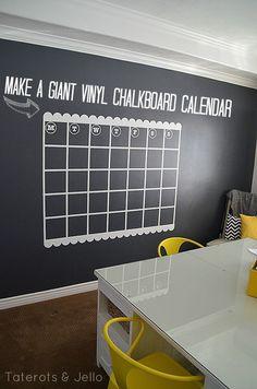 NAVY Chalkboard Wall And GIANT Calendar Tutorial