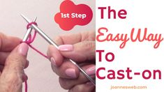 The Easy Way to Cast On Knitting – Step To Start Knitting – Knitting For Beginners 2020 Cast On Knitting, How To Start Knitting, Knitting Videos, Easy Knitting, Loom Knitting, Knitting Patterns, Best Christmas Presents, A Christmas Story, Christmas Fun