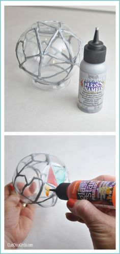 Painted Glass Globe Steps - could use this for stained glass project for Gothic churches in Europe.