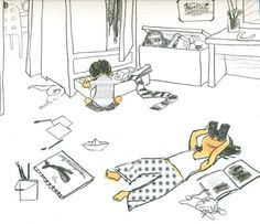 Ilustración de Suzy Lee Suzy, Pixar, Illustration Art, Illustrations, Childrens Books, Style Me, Kids, Inspiration, Image