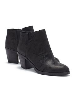 Great Bootie in Italian Intaglio Leather