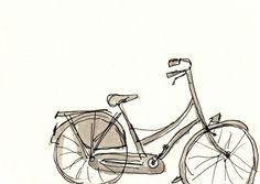 Dutch Bicycle Set of 4 Cards by jamieshelman on Etsy, $20.00