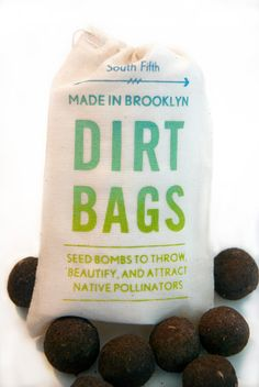 Seed Bombs made especially to attract pollinators such as bees, butterflies and even birds | $7