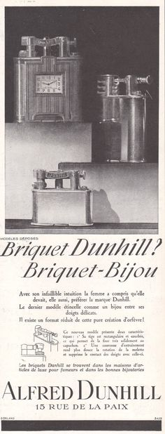 1929 Print Ad Alfred Dunhill Swing-Arm-Lighters Lighter-clock   eBay