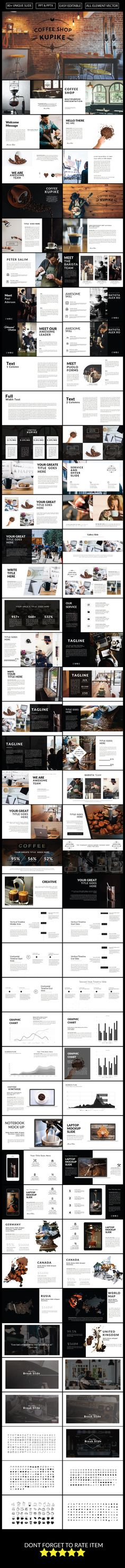 Coffee Kupike Multipurpose Powerpoint by slidercreative Web Design, Slide Design, Book Design, Layout Design, Web Layout, Presentation Deck, Presentation Design Template, Business Presentation, Keynote Design