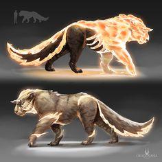ArtStation - lano'kogor Concept, Hussein Nabeel Mythical Creatures Art, Mythological Creatures, Magical Creatures, Fantasy Creatures, Monster Concept Art, Fantasy Monster, Monster Art, Creature Concept Art, Creature Design