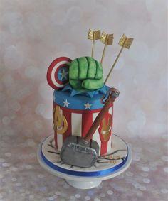 Avengers Cake for Erin's 18th Birthday