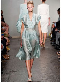 Sea foam green is my color for the spring.   Spring 2013 Fashion Trends - Best Trends from Spring 2013 Fashion Week - Marie Claire