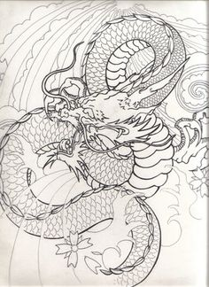 Japanese+dragon+drawing | japanese dragon flash