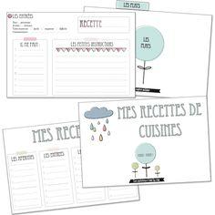 """Kit """"recettes de cuisine""""."""