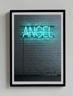 No Angel Neon sign  You can get it at: https://www.etsy.com/es/listing/211263050/senal-de-neon-no-angel-poster-beyonce?ref=shop_home_active_5