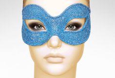 Glitter Blue Masquerade Mask    Shimmering Blue by SOFFITTA, $34.50