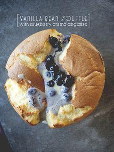 Blueberry Crème Vanilla Soufflé {yum!}